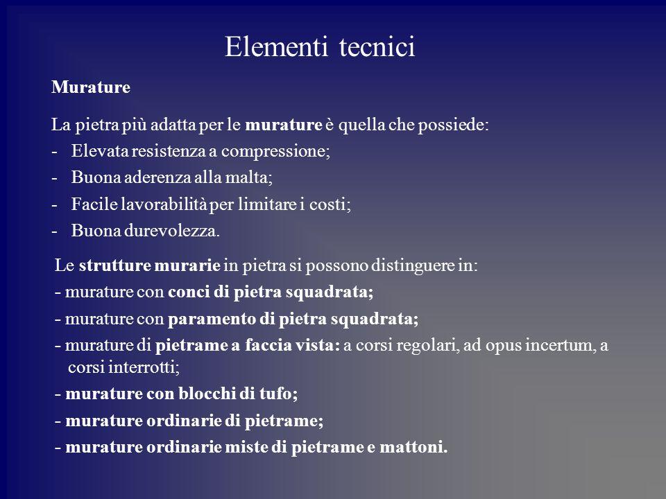 Elementi tecnici Murature