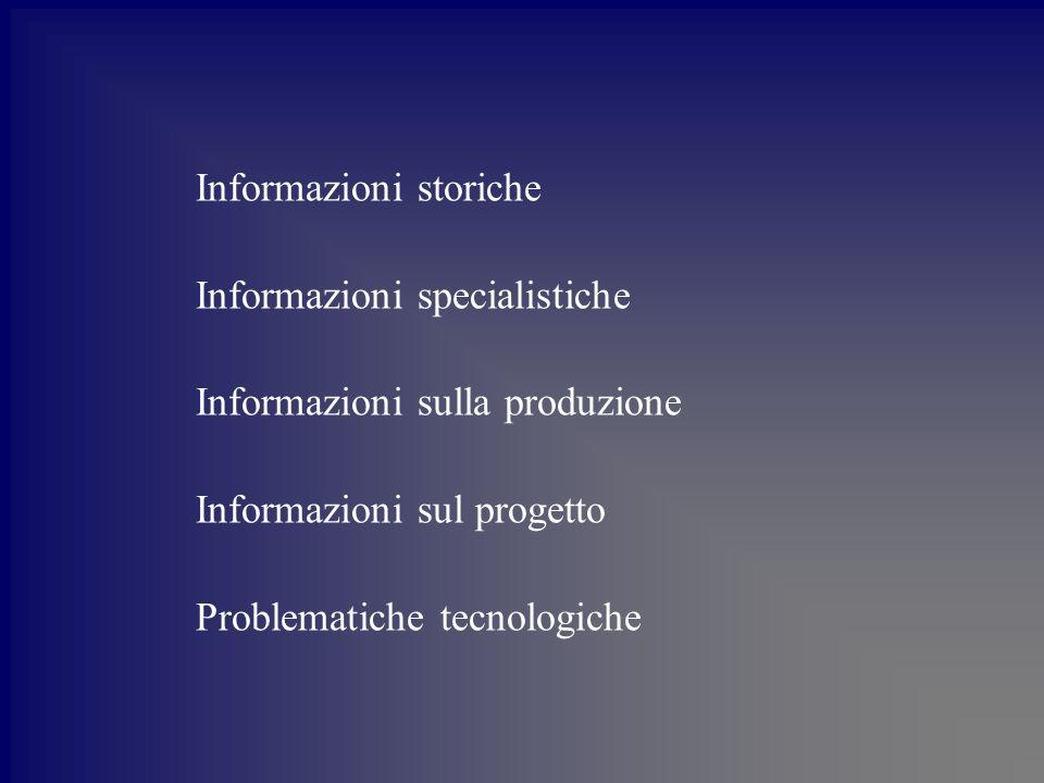 Informazioni storiche