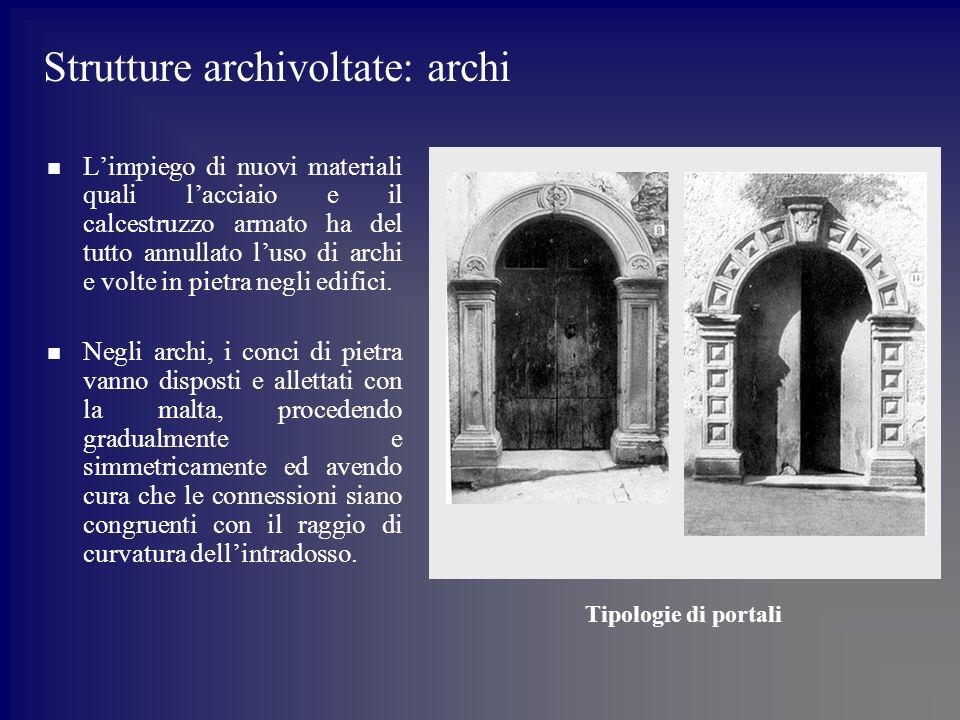 Strutture archivoltate: archi