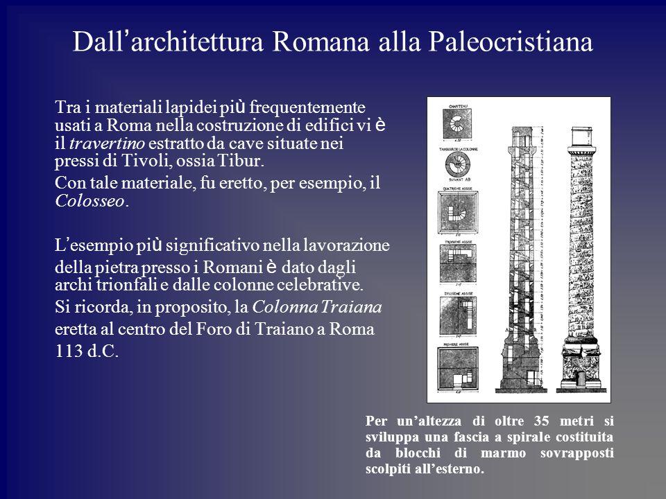 Dall'architettura Romana alla Paleocristiana