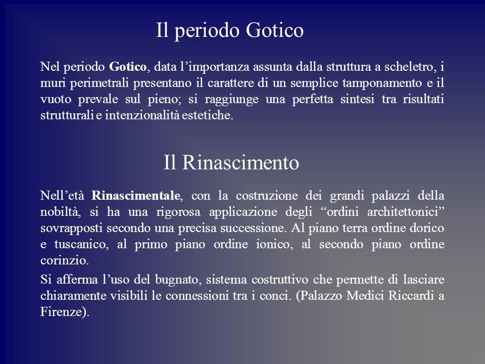 Il periodo Gotico Il Rinascimento