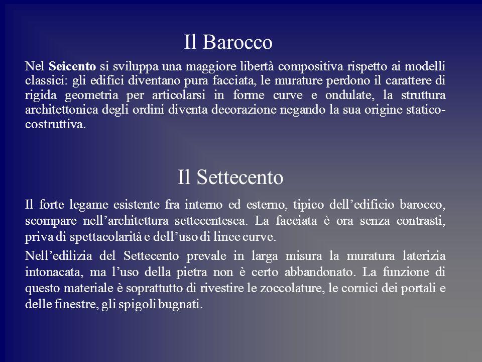 Il Barocco Il Settecento