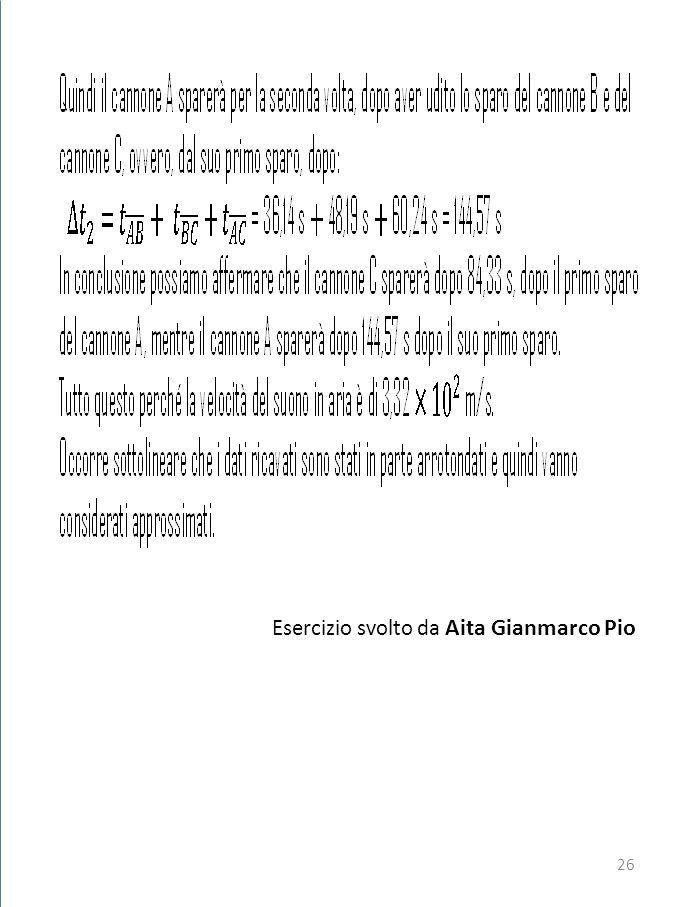 Esercizio svolto da Aita Gianmarco Pio