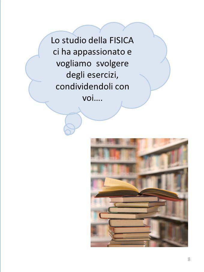 Lo studio della FISICA ci ha appassionato e vogliamo svolgere degli esercizi, condividendoli con voi….
