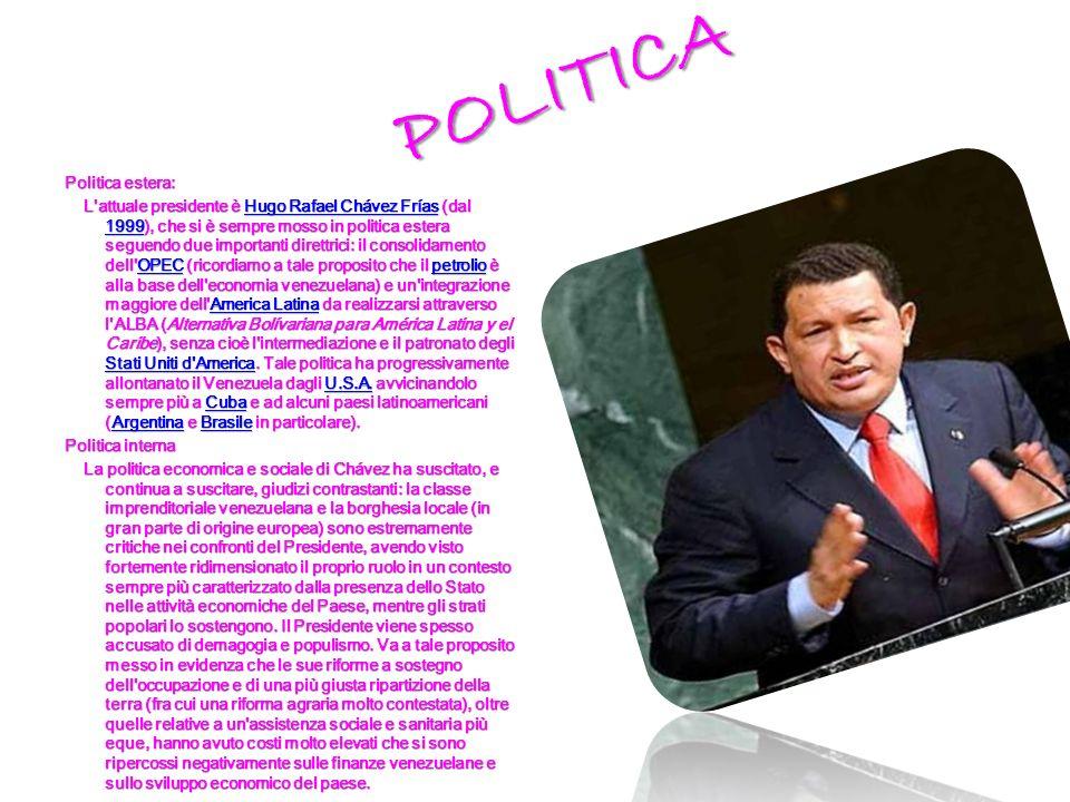 POLITICA Politica estera:
