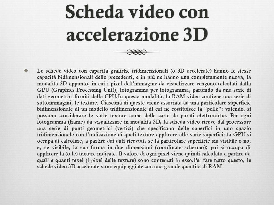 Scheda video con accelerazione 3D
