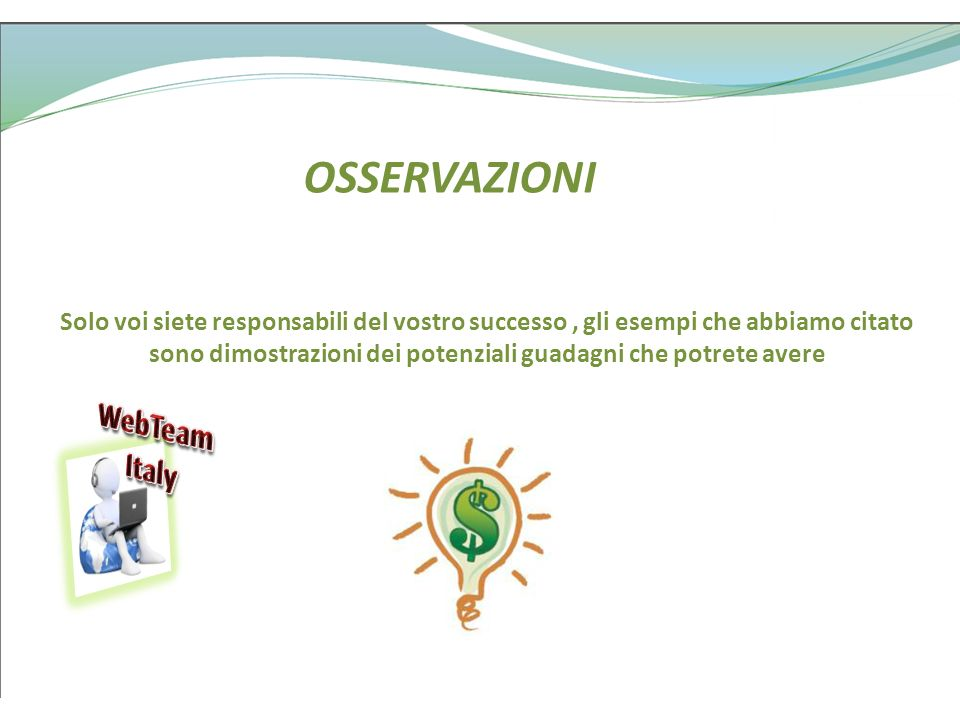 OSSERVAZIONI WebTeam Italy