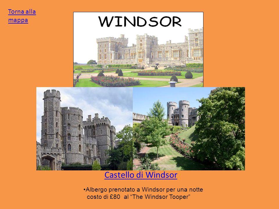 Castello di Windsor Torna alla mappa