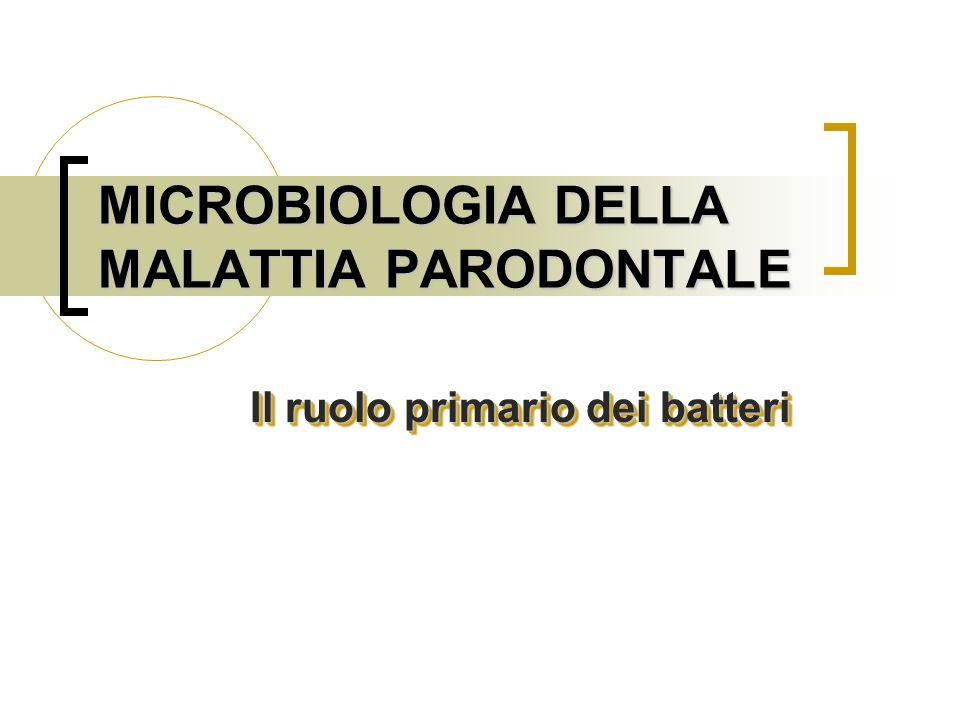 MICROBIOLOGIA DELLA MALATTIA PARODONTALE