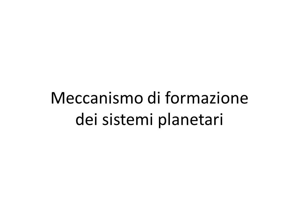 Meccanismo di formazione dei sistemi planetari