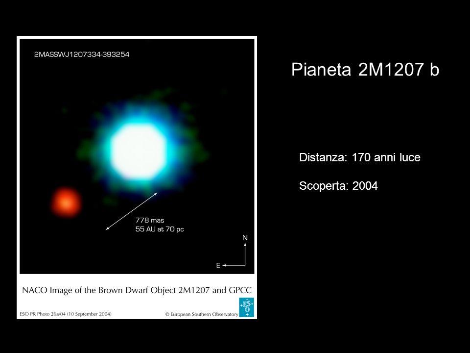 Pianeta 2M1207 b Distanza: 170 anni luce Scoperta: 2004