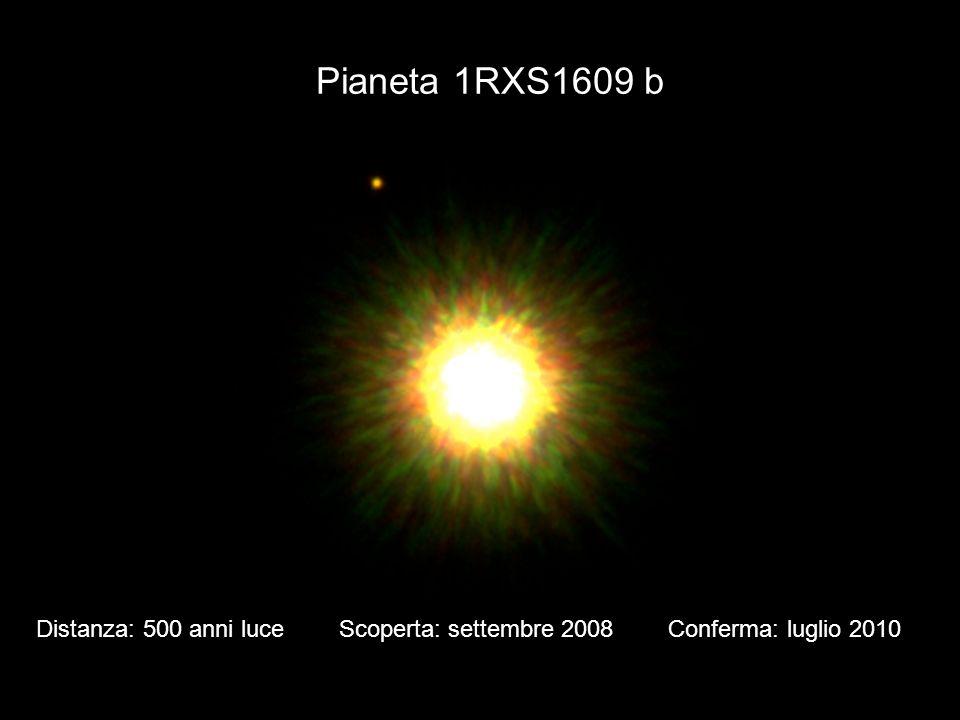 Pianeta 1RXS1609 b Distanza: 500 anni luce Scoperta: settembre 2008 Conferma: luglio 2010.