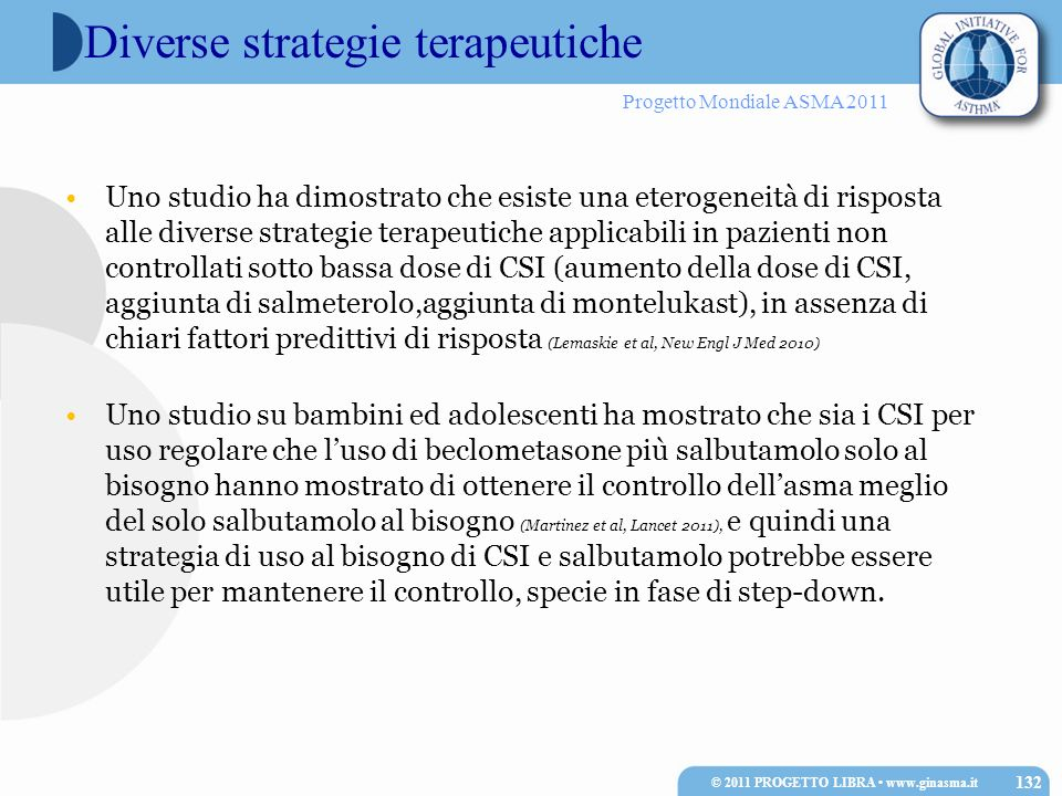 Diverse strategie terapeutiche