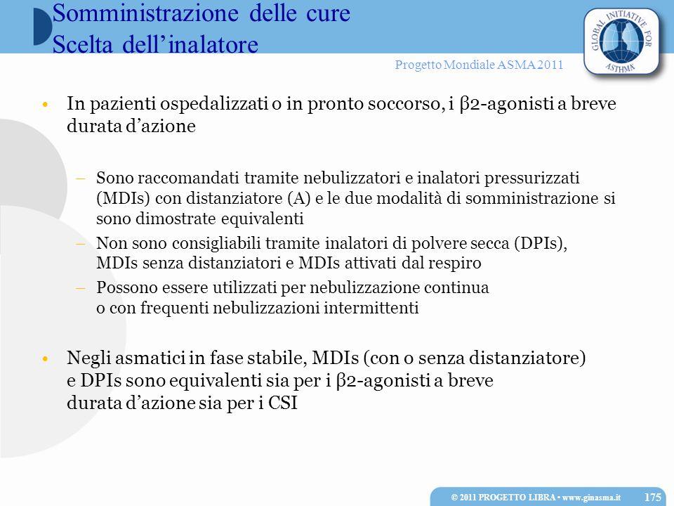 Somministrazione delle cure Scelta dell'inalatore