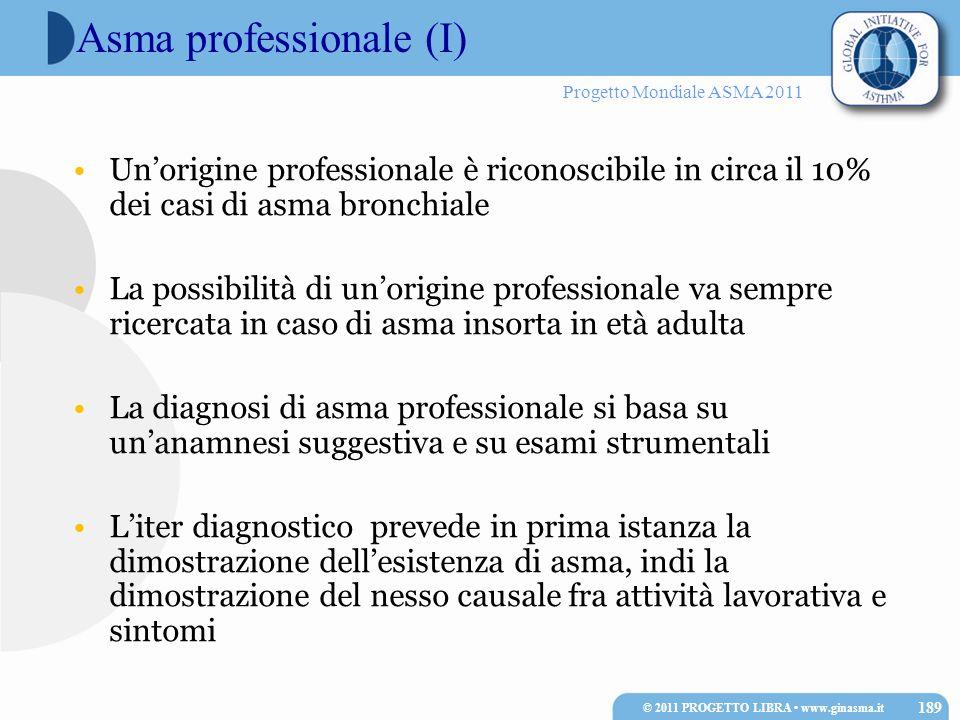 Asma professionale (I)