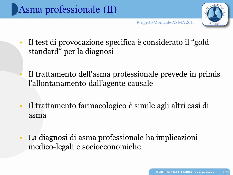Asma professionale (II)