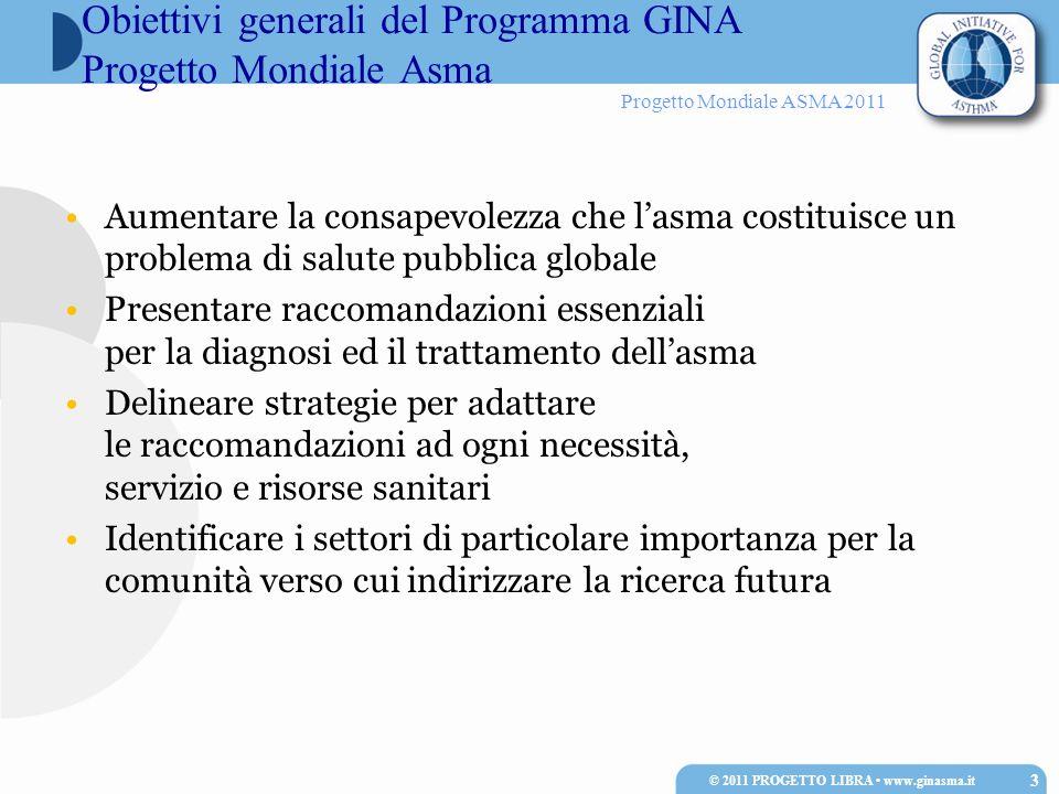 Obiettivi generali del Programma GINA Progetto Mondiale Asma