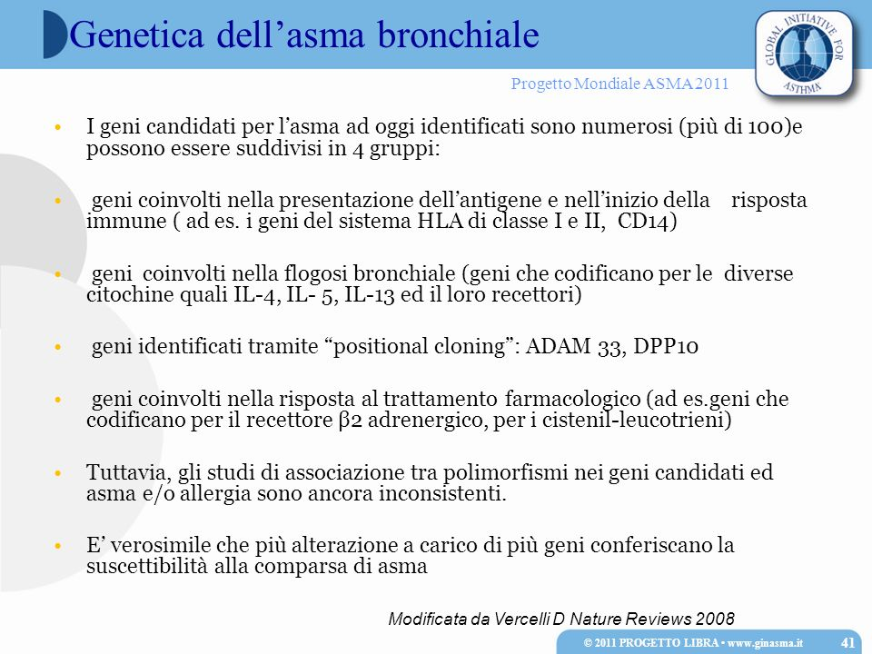 Genetica dell'asma bronchiale