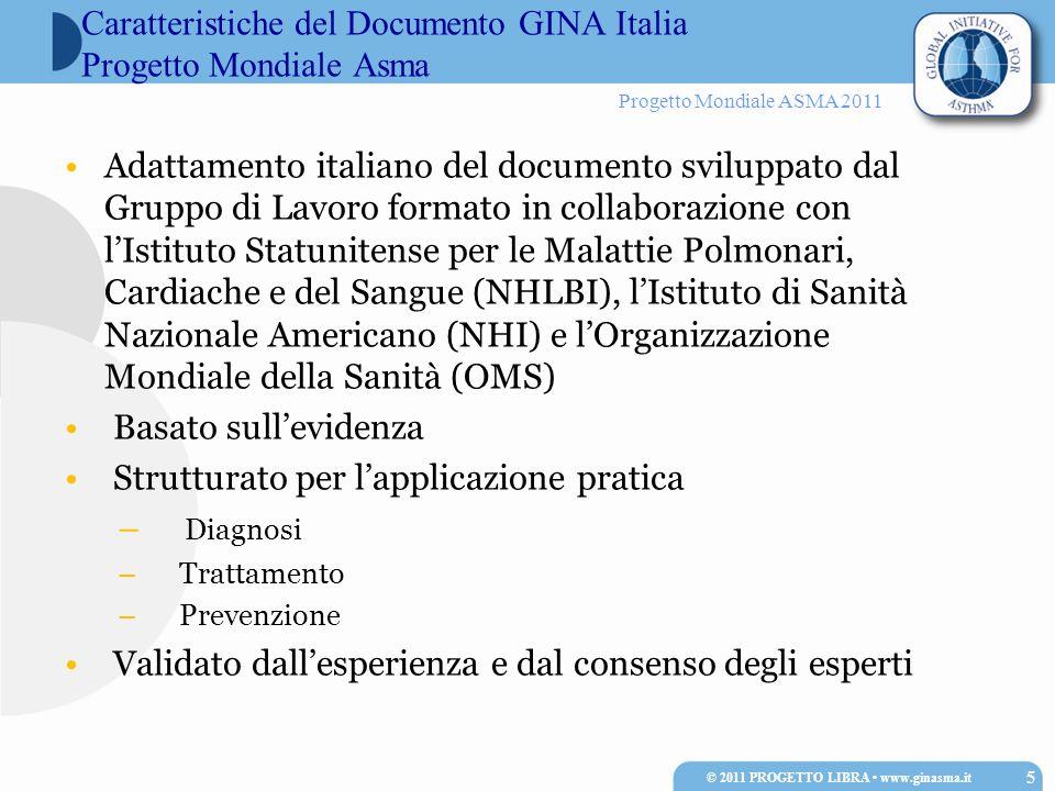 Caratteristiche del Documento GINA Italia Progetto Mondiale Asma