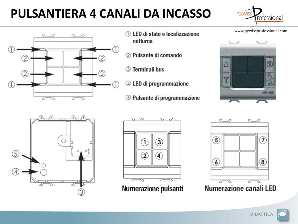 PULSANTIERA 4 CANALI DA INCASSO