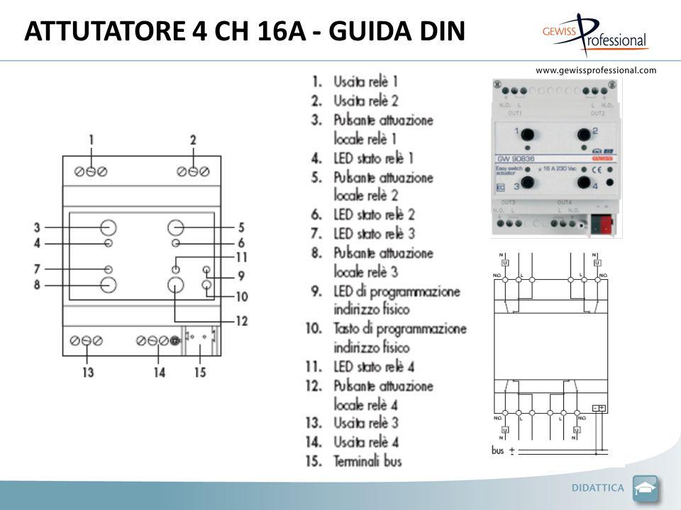 ATTUTATORE 4 CH 16A - GUIDA DIN