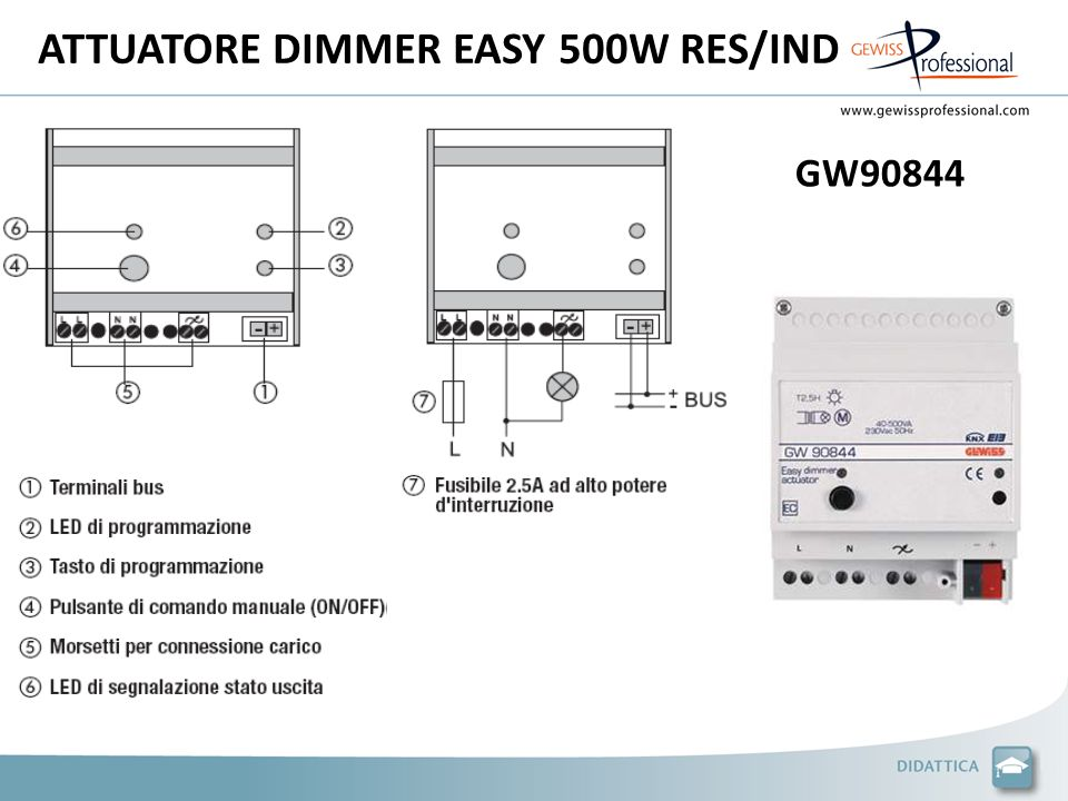 ATTUATORE DIMMER EASY 500W RES/IND