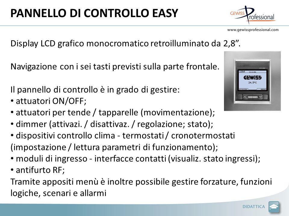 PANNELLO DI CONTROLLO EASY