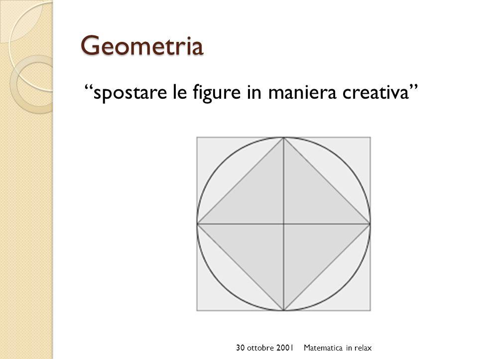 Geometria spostare le figure in maniera creativa 30 ottobre 2001