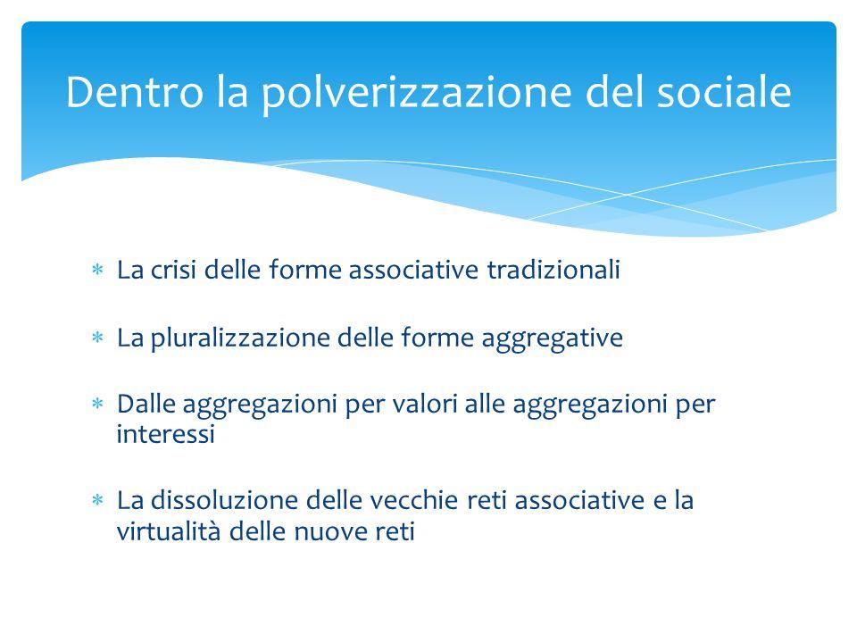 Dentro la polverizzazione del sociale