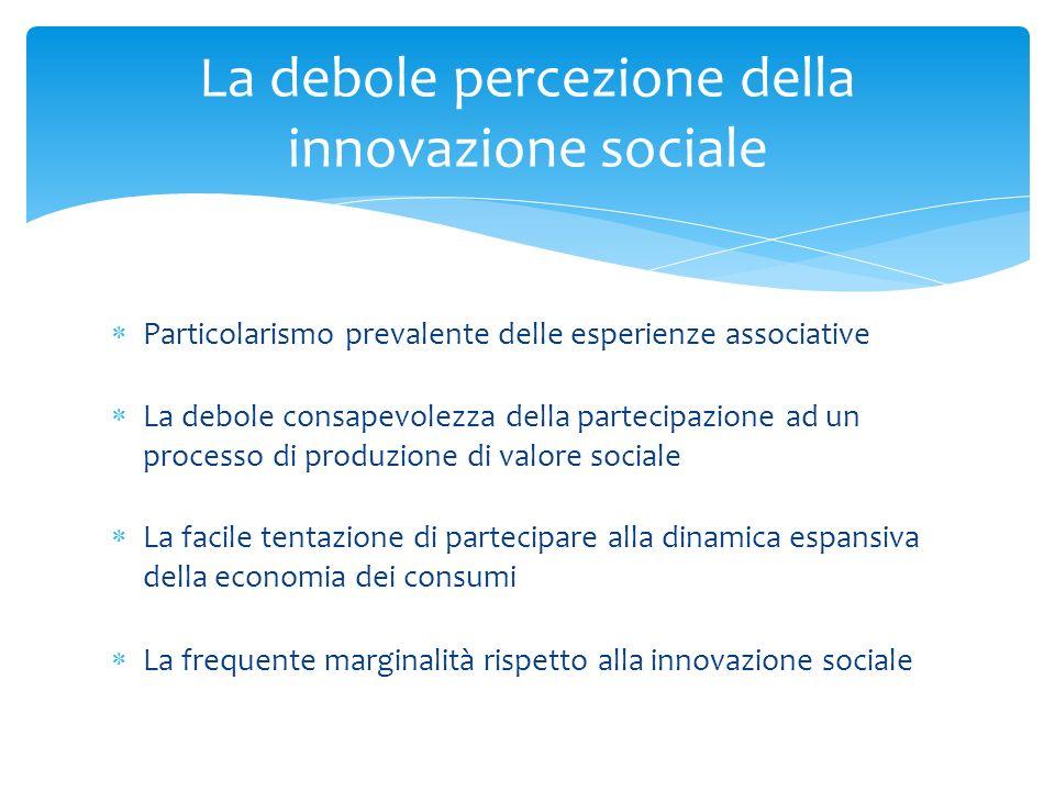 La debole percezione della innovazione sociale
