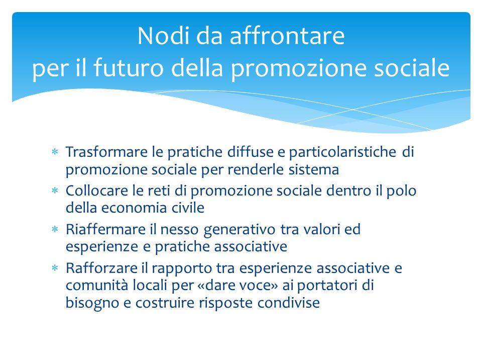 Nodi da affrontare per il futuro della promozione sociale