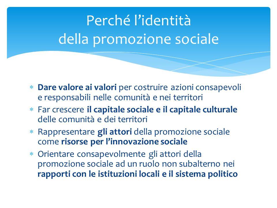 Perché l'identità della promozione sociale