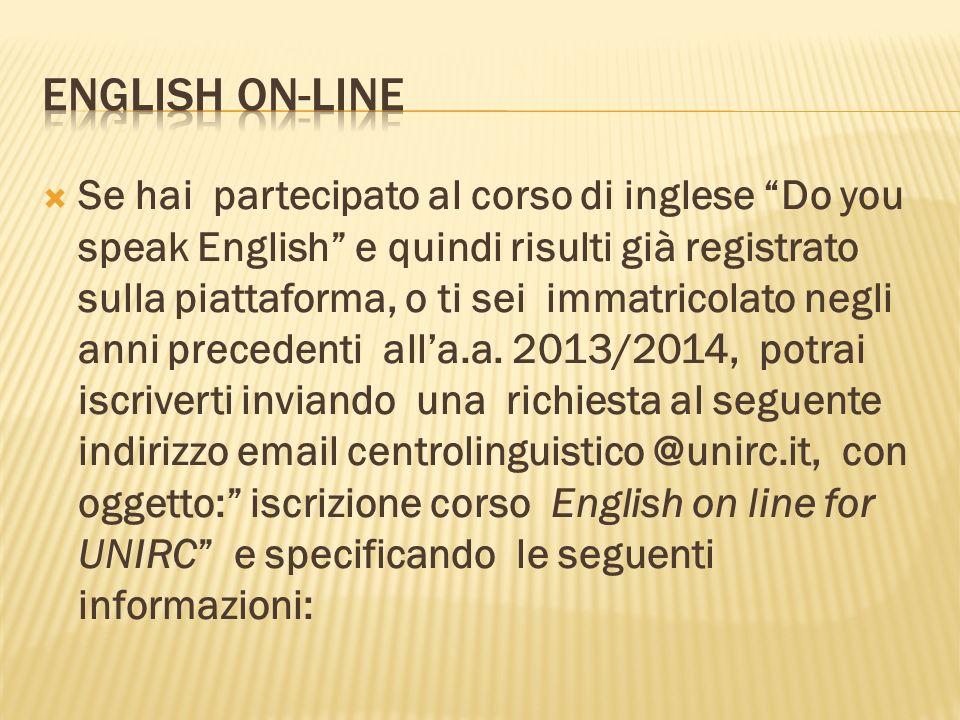 English On-line
