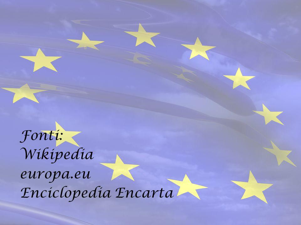 Fonti: Wikipedia europa.eu Enciclopedia Encarta