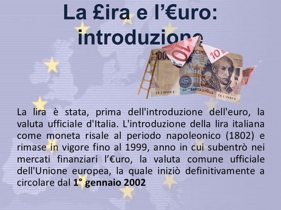 La £ira e l'€uro: introduzione