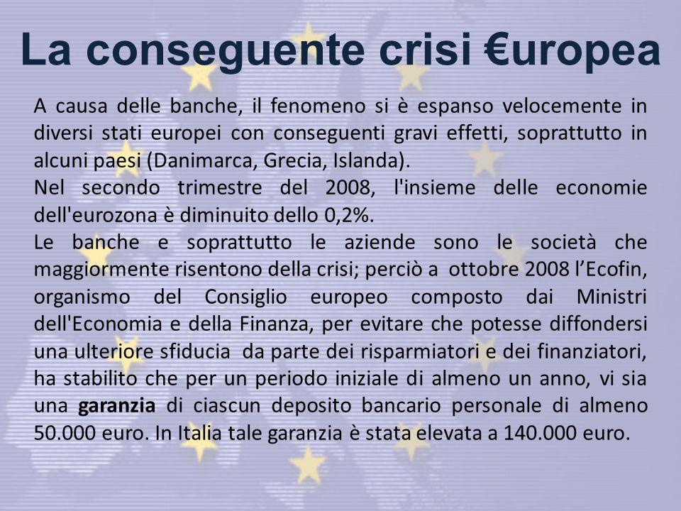 La conseguente crisi €uropea