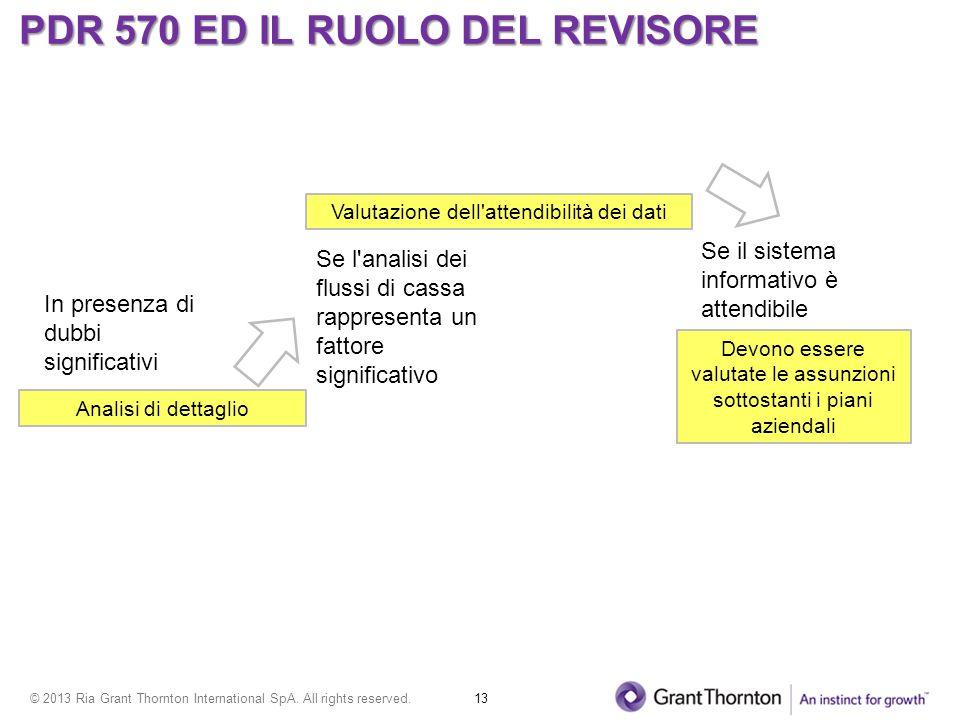PDR 570 ED IL RUOLO DEL REVISORE