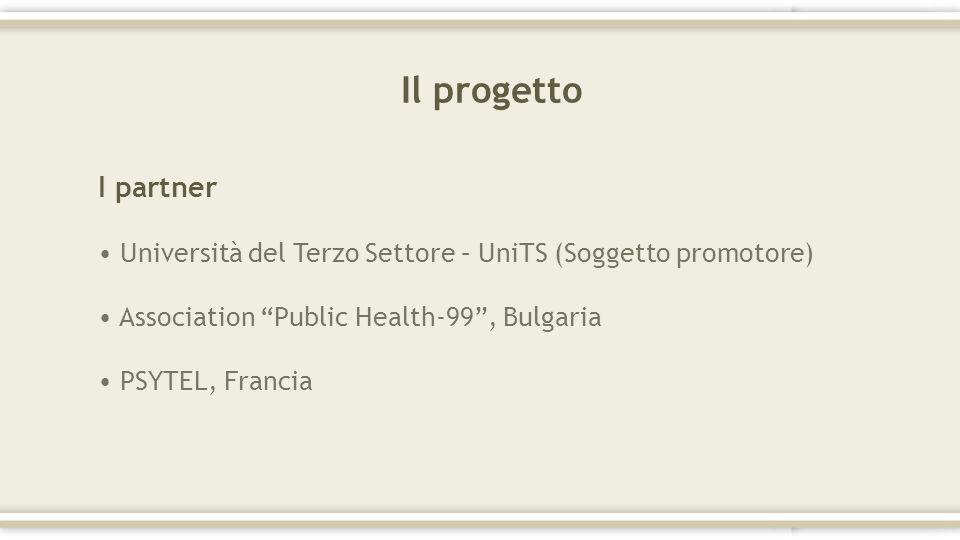 Il progetto I partner. Università del Terzo Settore – UniTS (Soggetto promotore) Association Public Health-99 , Bulgaria.