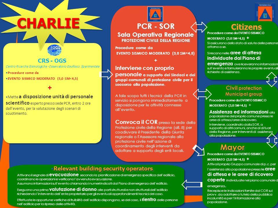 Sala Operativa Regionale PROTEZIONE CIVILE DELLA REGIONE