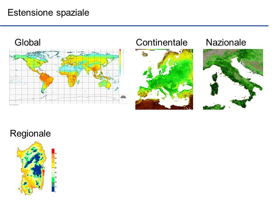 Estensione spaziale Global Continentale Nazionale Regionale