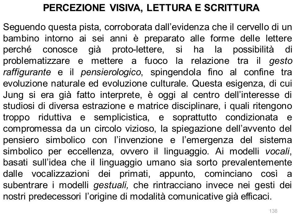 PERCEZIONE VISIVA, LETTURA E SCRITTURA