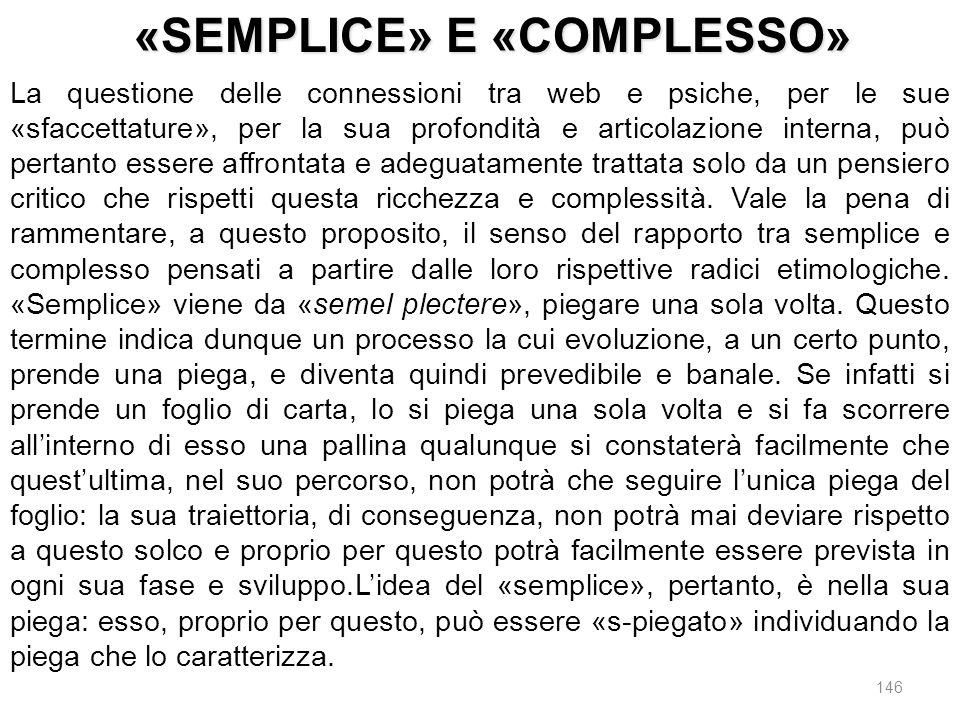 «SEMPLICE» E «COMPLESSO»