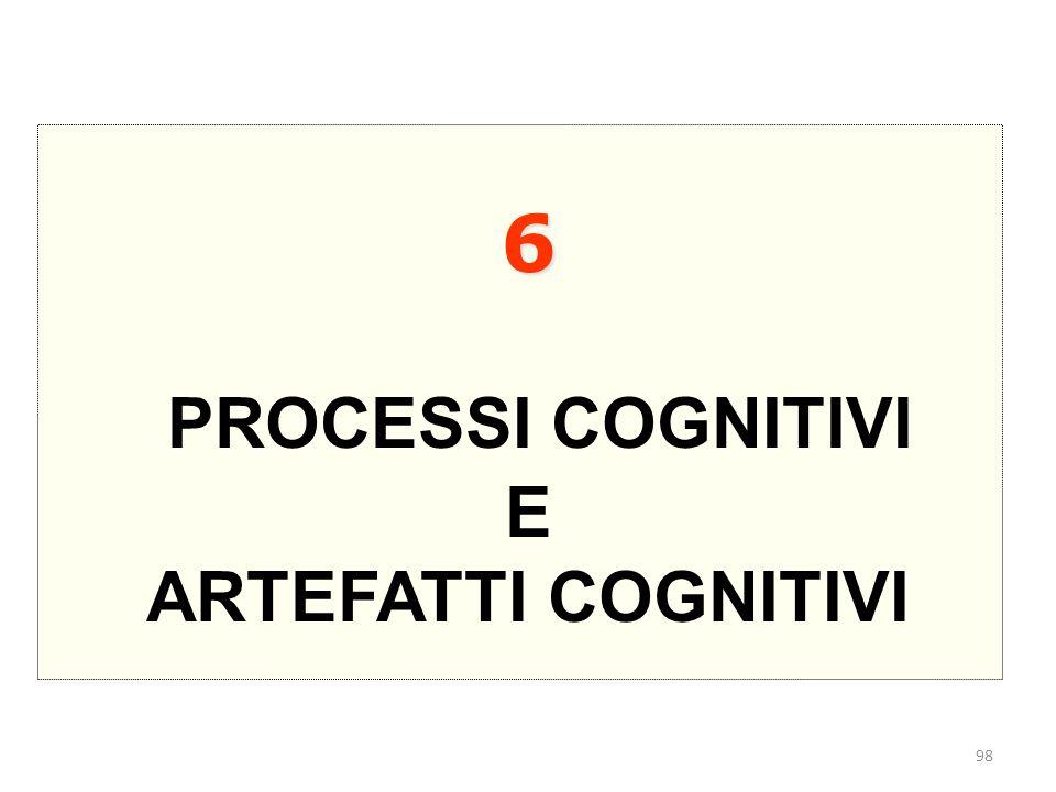 6 PROCESSI COGNITIVI E ARTEFATTI COGNITIVI