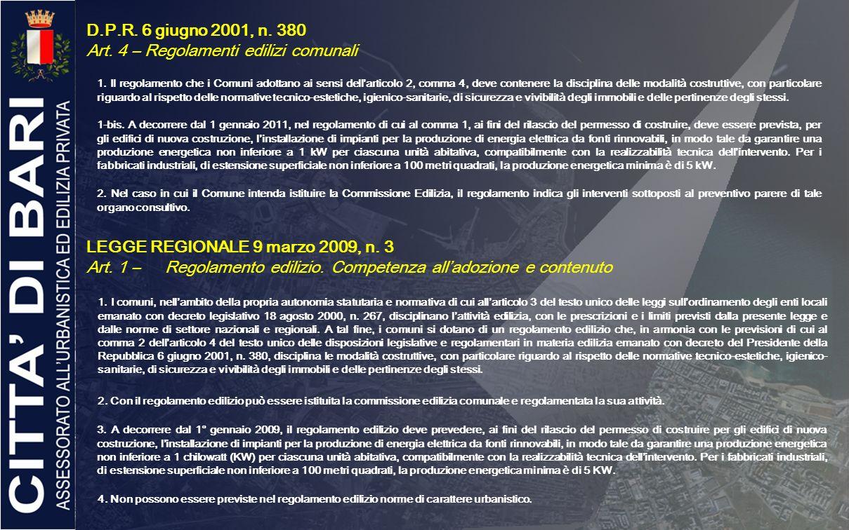 Art. 4 – Regolamenti edilizi comunali