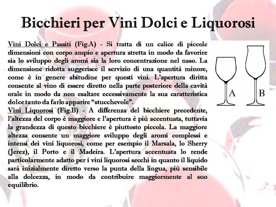 Bicchieri per Vini Dolci e Liquorosi