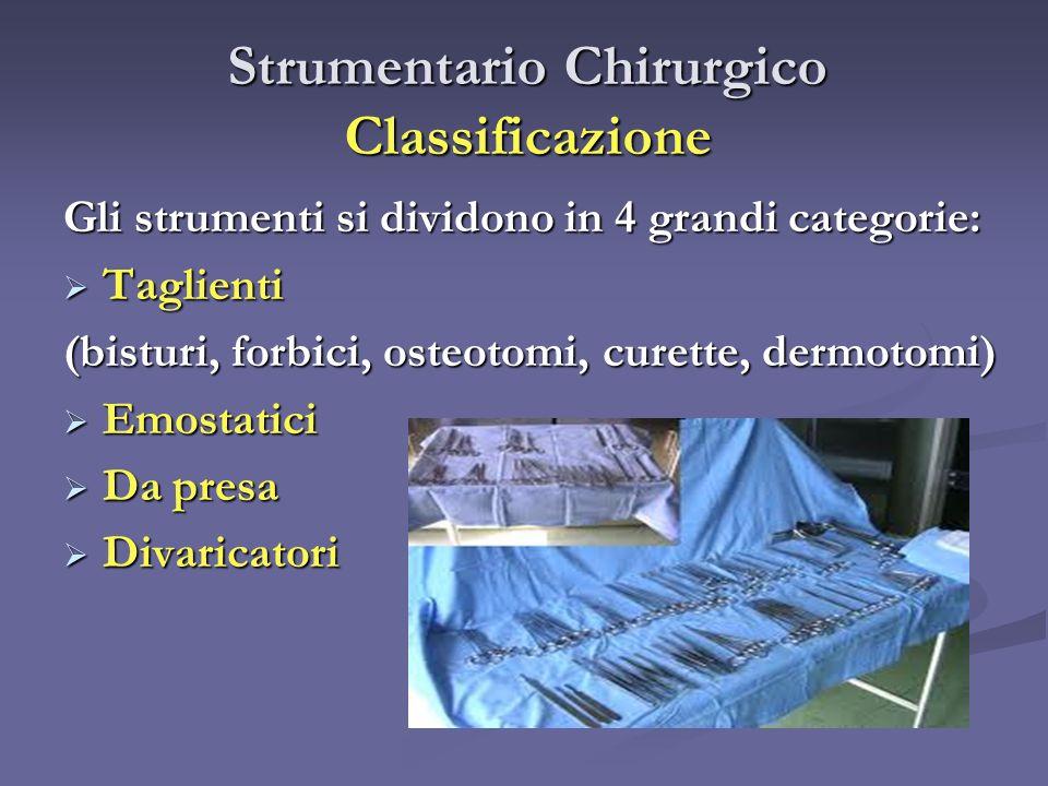 Strumentario Chirurgico Classificazione