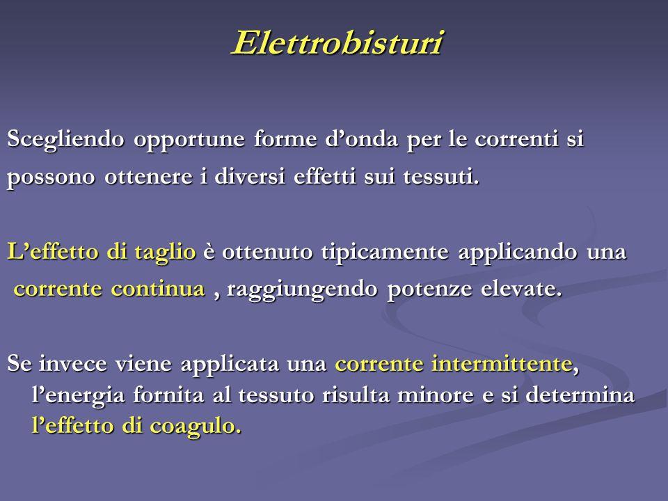 Elettrobisturi Scegliendo opportune forme d'onda per le correnti si