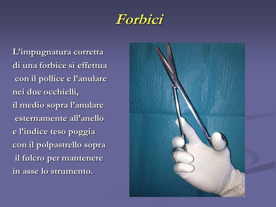 Forbici L'impugnatura corretta di una forbice si effettua