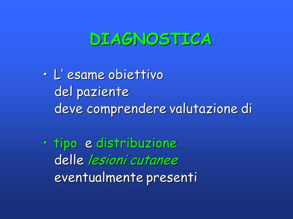 DIAGNOSTICA L' esame obiettivo del paziente