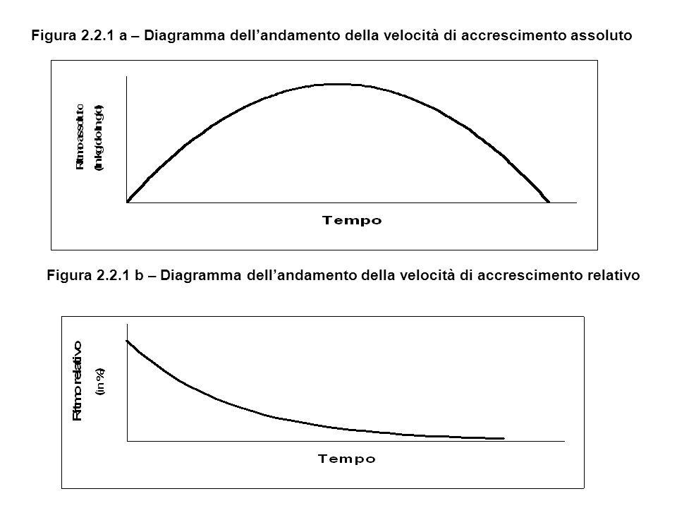 Figura 2.2.1 a – Diagramma dell'andamento della velocità di accrescimento assoluto